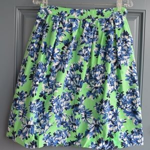 Green/Blue Floral Print Skirt by J. Crew Sz. 4